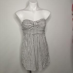 Roxy Strapless Polka Dot Dress Size Small